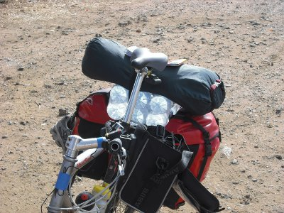 Fahrrad mit Gepäck
